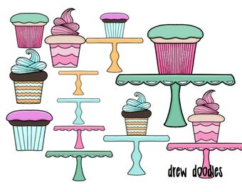 Mix and Match Cupcakes Digital Clip Art Set