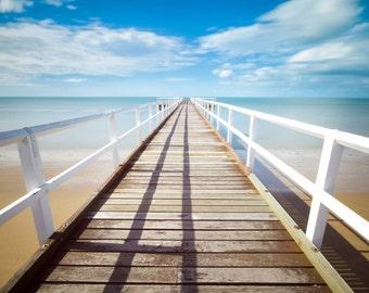 Pier - Jetty - Pier Photo - Pathway - Sea - Summer - Pier Digital Photo - Sea Photo - Digital Photo - Instant Download - Beach House Decor