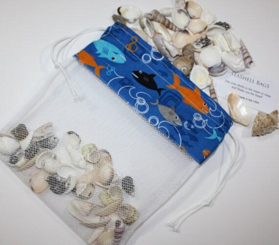 Wedding Favor Mesh Bags : Bag, Sharks Fabric, Mesh Bag, Beach Wedding Favor, Shelling Bag ...