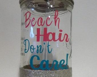 Beach Hair Mason Jar Tumbler