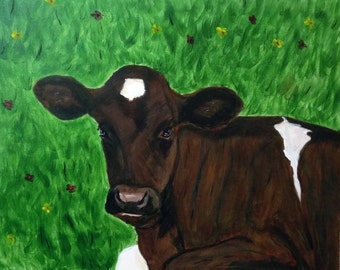 Moses the Cow signed print