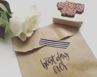 Best Day Ever Stamped Bags