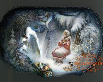 Winter. Landscape. Morozko, Snow Maiden and Father Frost