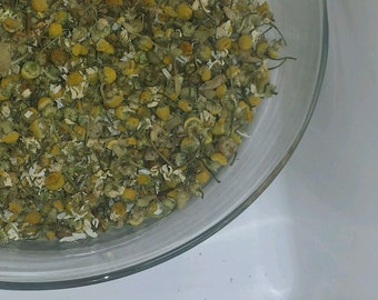 100% ORGANIC Chamomile Flowers dried loose herbal Tea Saltadorio herbs