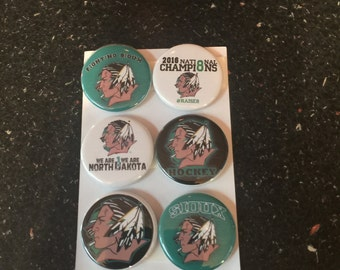 Fighting Sioux Button Magnets