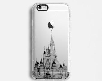 Castle iPhone X case, iPhone 7 Plus case, iPhone 7 case, iPhone 6s plus case, iPhone 6s case,   clear case, black grey C085