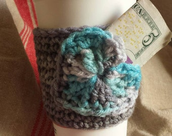Cup Cozy with Heart Pocket
