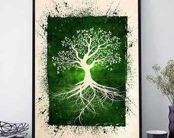 Wall Art Trees tree of life wall art | etsy