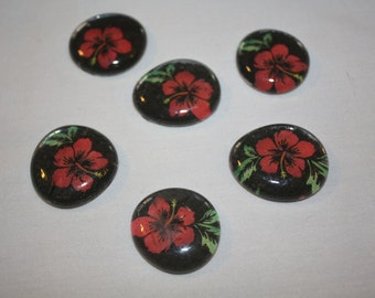 Red Flower Magnets
