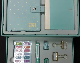Authorised By Sanrio Hello Kitty Deluxe Limited Edition A6 Planner plus 12pcs Stantionery Set  - perfect for daily planning use