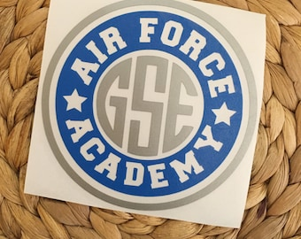 Air Force Academy Monogrammed Vinyl Decal