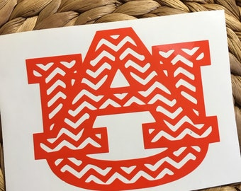 Auburn Chevron Vinyl Decal