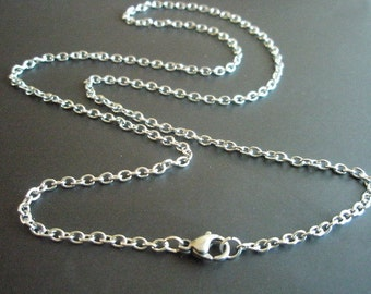Stainless steel necklace 19.5 inch