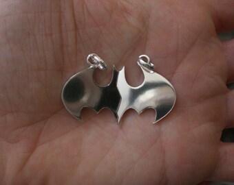 Batman silver pendant
