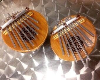 Coconut mbira thumb piano