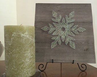 Made to Order Shimmery Snowflake String Art