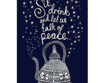 PEACE Print / Tea Print / Love Print