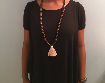 the Charley - dark brown wooden beads