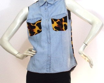 Short light blue shirt ASKustom4U Africa Brand Line to follow