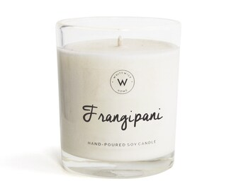 "Medium ""Frangipani"" Scented Soy Wax Candle"