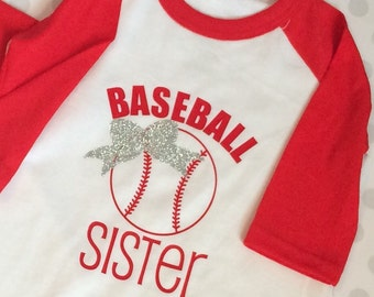 Baseball Sister Shirt ~ customize colors