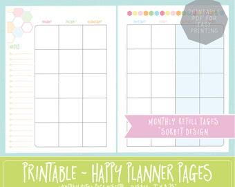 Items similar to Rainbow Template Personal Planner Weekly ...