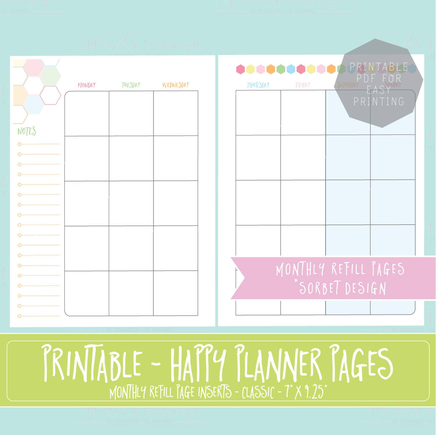 Massif image throughout free planner refills printable