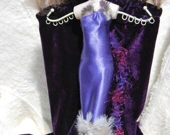Jewelboard feathers and velvet - pièce Unique-