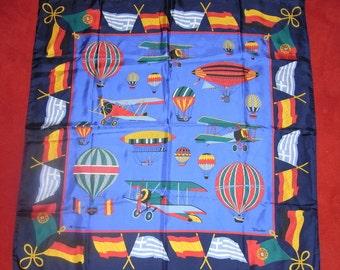 """Windsor""""-silkscarf, royalblue-Zeppelin"""