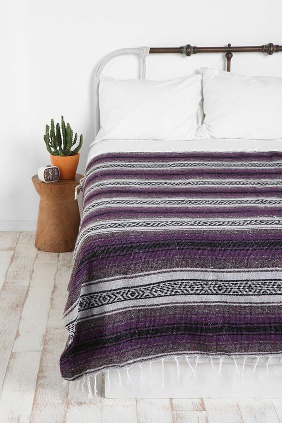 Hand Woven Mexican Blanket Mexican Yoga Blanket By