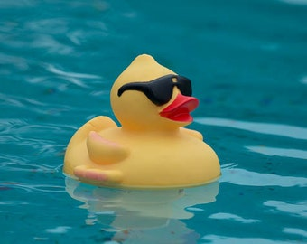 Rubber Ducky, Fine Art Photography, Yellow and Blue