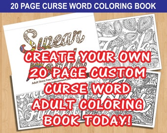 7 Page Fuck Cancer Sweary Curse Word Coloring Book Printable