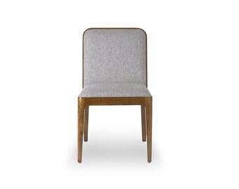 Walnut Mid Century Dining Chair, Walnut Upholstered Chair, Walnut Dining Chair -Ekais BQ Line