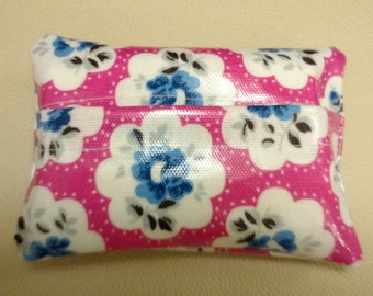 Pocket tissue holder in Cath Kidston oil cloth.