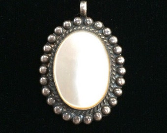 Opalescent Stone Sterling Pendant