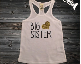 Big sister tank top, big sis tank, big sister shirt, future sister, little brother, little sister
