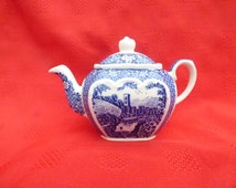 Sadler, Teapot, Afternoon Tea Series, One Cup Cube Shape.