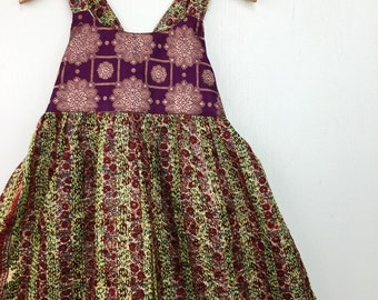 6 Years Pocket Sari Maxi Dress, Bohemian Kid Fashion, Toddler Dress, Boho Kids, Kids Dress, Hippie Dress, Kids Maxi, Hippie Flower Girl