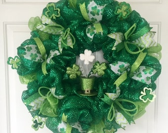 St. Patrick's Day Leprechaun Hat Wreath