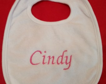 Embroidered Personalized Baby Bib