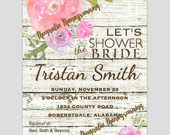 Bridal Shower Digital Invitation