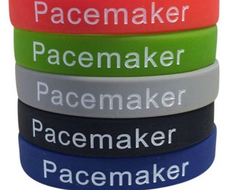 Pacemaker Bracelet Medical Alert ID Silicone Band Heart Condition (Set of 5)