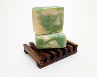 Green Irish Tweed Soap | Cold Process, Homemade Soap, Natural Bar Soap, Vegan, Mens, Body Wash, Swirl, Gifts, Scented Soap, Handcrafted Soap