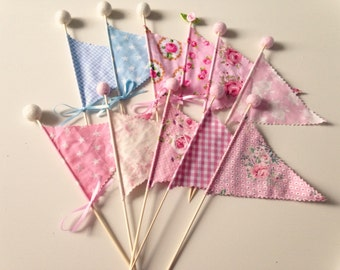 Flags, pennants, tilda, Shabby Chic, vintage