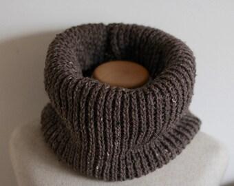 Chocolate Brown, vegan infinity scarf, cowl, taupe, cruelty free, circle scarf, outlander scarf, outlander cowl, vegan clothing, vegan gift