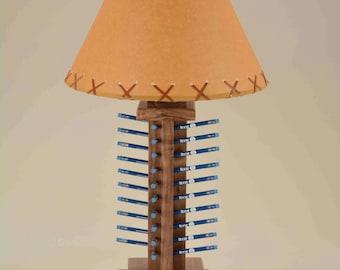 Walnut table lamp golf pencil display