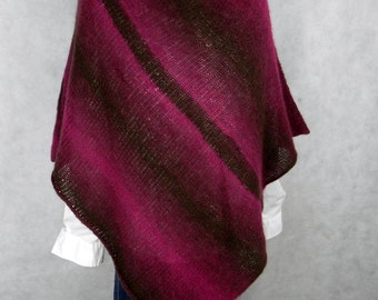 PONCHO knit PONCHO CAPE with loop * extra fine Merino Wool hand knitted Alpaca * set
