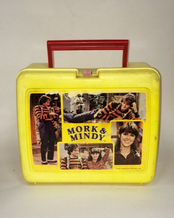 Vintage mork mindy lunch box display decor piece in gameroom for Decor 6 piece lunchbox