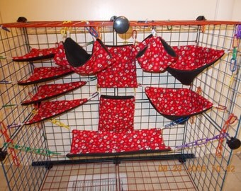 SNOWMEN AND SNOWFLAKES Sugar Glider 11 pc cage set