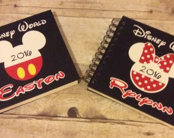 6x6 inch Personalized Disney Autograph Book, Disney World, Disney Land, or Disney Cruise Autograph Book,  Mickey and Minnie Mouse, Vacation